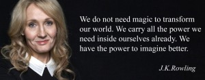 J.K.Rowling Image and Quote