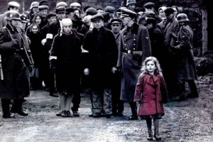 Girl in red dress Schindlers List