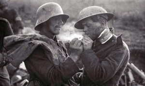 WWI soldiers sharing